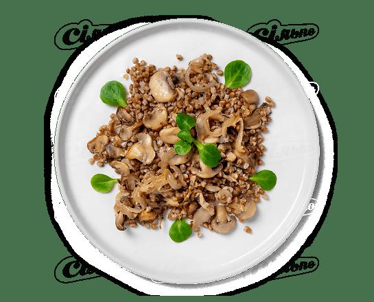 Каша гречана з грибами 100г