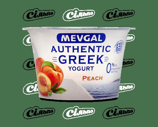 Йогурт Mevgal «Грецький» зі шматочками персика 0.9% 150г