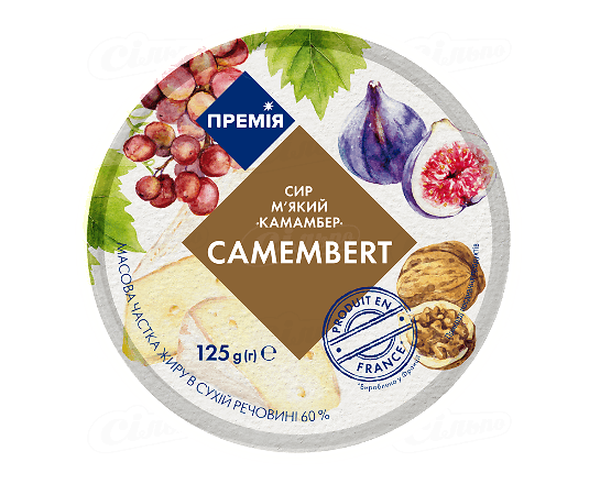 Сир «Премія»® «Камамбер» 45% 125г