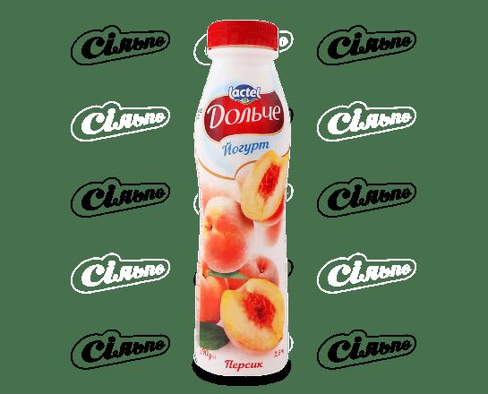 Йогурт Дольче Lactel персик 2.5% 290г