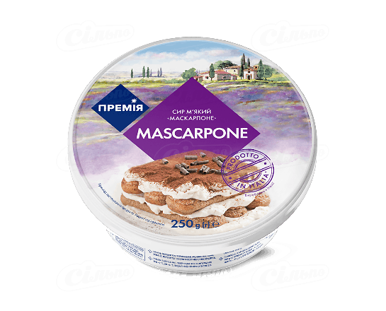 Сир «Премія»® «Маскарпоне» з коров'ячого молока 250г