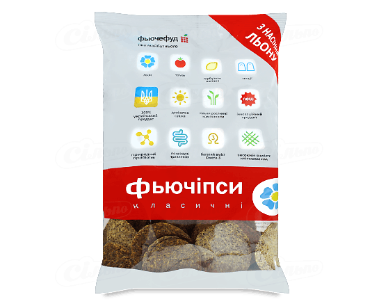 Чіпси «Фьючіпси» «Класичні» з насіння льону 120г
