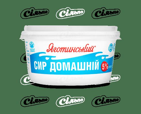 Сир кисломолочний «Яготинський» домашній 5% 370г