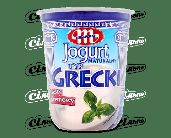 Йогурт Mlekovita «Грецький» натуральний 9% 400г