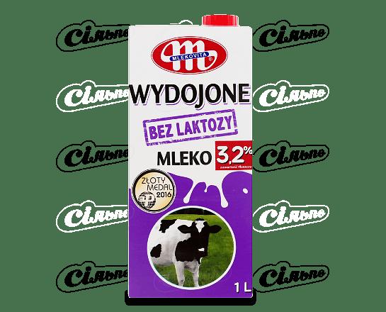 Молоко Mlekovita без вмісту лактози 3.2% 1л
