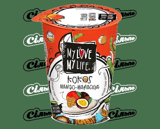 Десерт кокосовий My Love-My Life манго-маракуя органічний 180