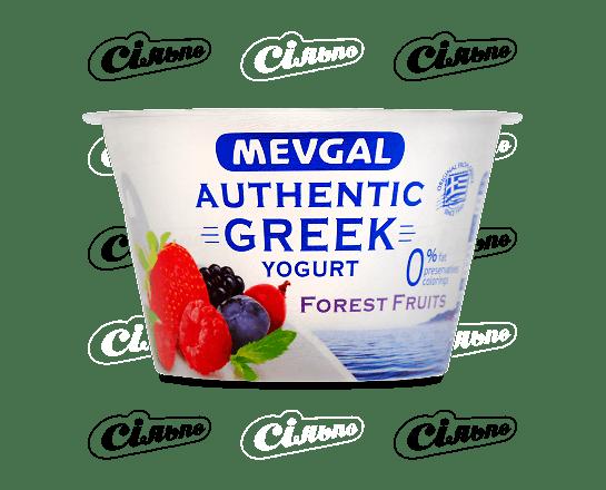Йогурт Mevgal «Грецький» з лісовими ягодами 0% 150г