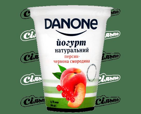 Йогурт Danone персик-червона смородина 2.5% 260г