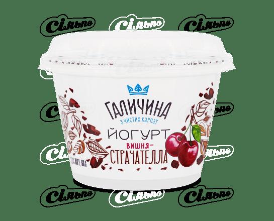 Йогурт «Галичина» страчателла-вишня 2.5% 180г