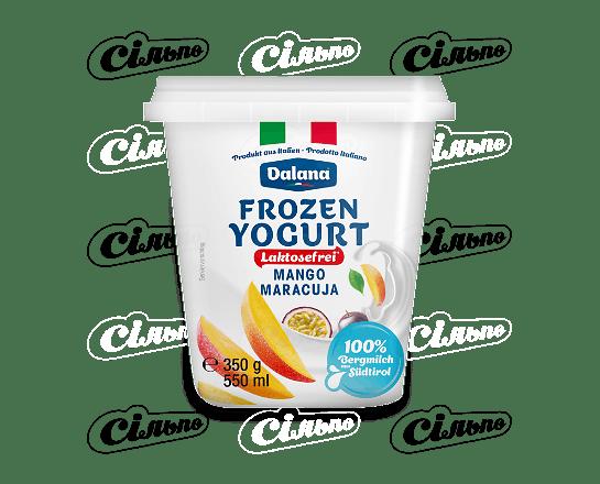 Йогурт Dalana манго-маракуя без лактози заморожений 350г