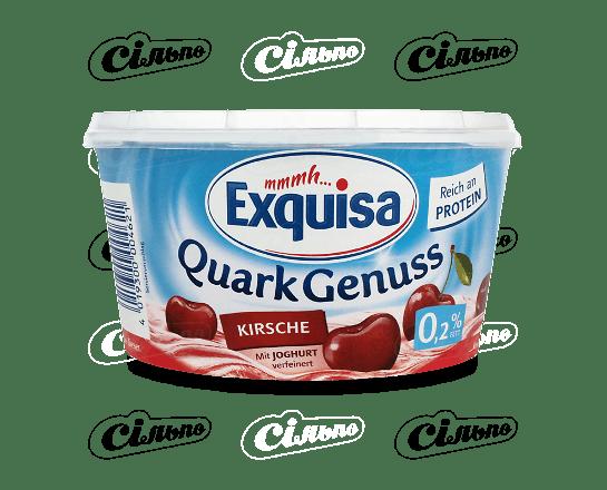 Десерт сирковий Exquisa з вишнею 0.2% 500г
