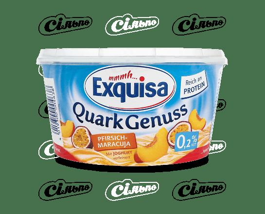 Десерт сирковий Exquisa персик-маракуя 0.2% 500г