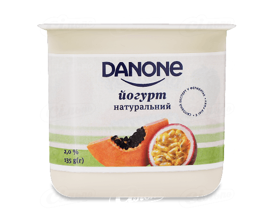 Йогурт Danone папайя маракуя 2% стакан 135г